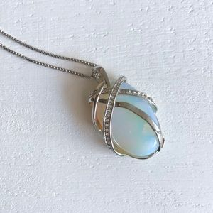 Opal on Sterling Silver chain